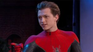 Tom Holland Brings His New Spider-Man Costume To Jimmy Kimmel Live!